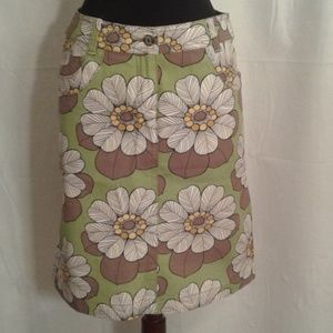 Boden 8L mod floral denim skirt pockets